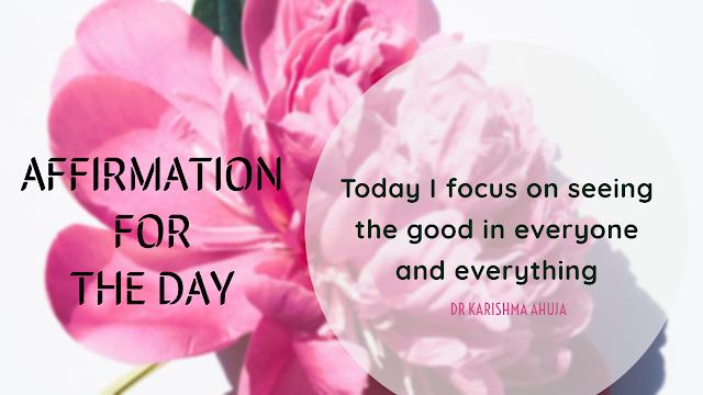 Affirmation for mindfulness