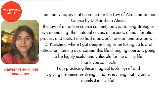 Law of Attraction Train the Trainer course by Dr Karishma Ahuja