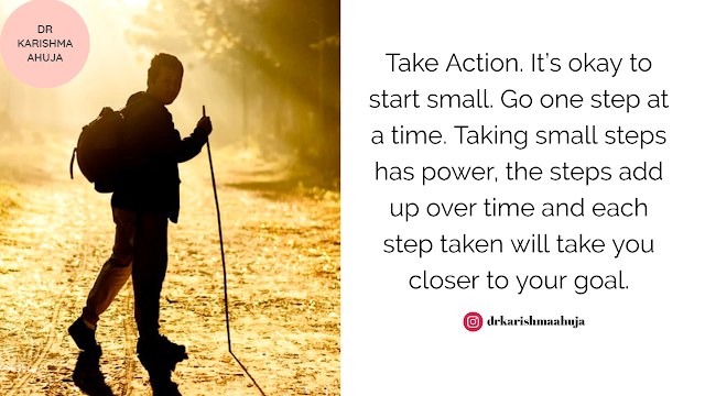 Tip for the day Take one step at a time Achive your goals